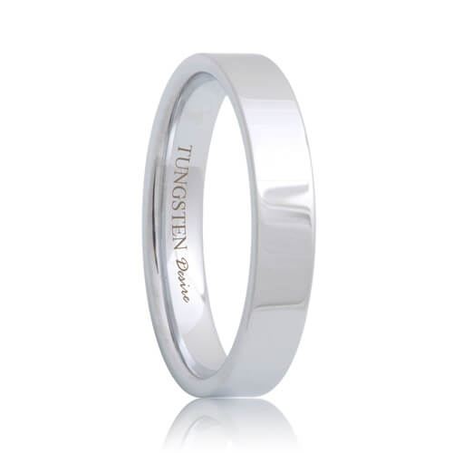 Flat Best 4mm Tungsten Jewelry Wedding Band