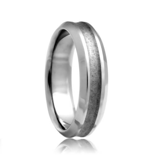 Concave Brushed Scratch Resistant Tungsten Carbide Band (6mm - 8mm)