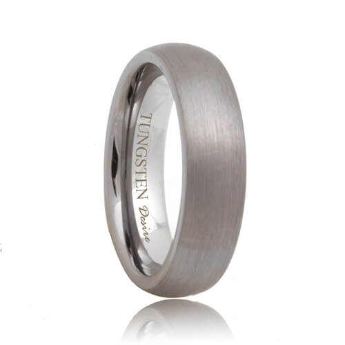 Brushed Round Unique Tungsten Carbide Wedding Band