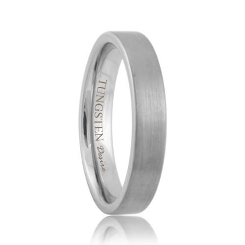 Flat Brushed Comfort Fit Tungsten Carbide Wedding Band