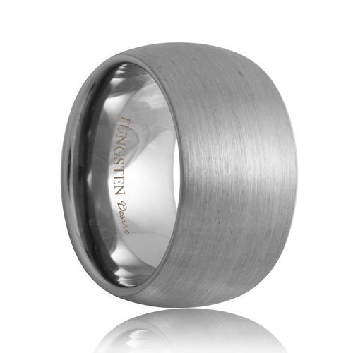 12mm Satin Round Scratch Resistant Tungsten Band