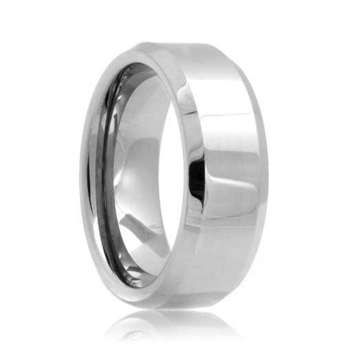 Beveled Tungsten Carbide Engagement Ring(6mm - 8mm)