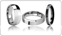 Beveled Tungsten Rings