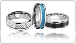 Carbon Fiber Tungsten Rings