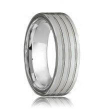 Flat Triple Grooved Best 8mm Tungsten Carbide Band (6mm - 8mm)