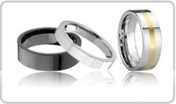 Flat Tungsten Rings