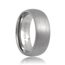 Brushed Domed Durable Tungsten Wedding Ring (6mm - 8mm)