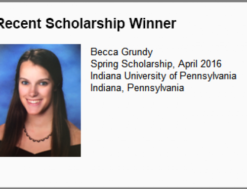 Spring 2016 Scholarship Winner Announced