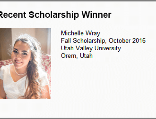 Fall 2016 Scholarship Winner Announced