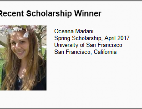 Spring 2017 Scholarship Winner Announced