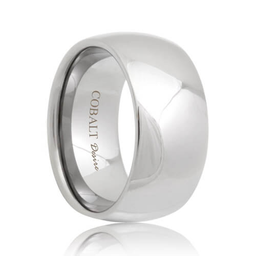 view larger image undefined 10mm domed durable cobalt chrome wedding band