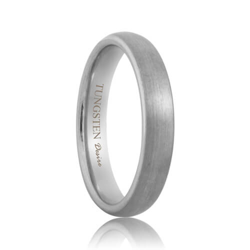 Minneapolis brushed domed durable tungsten wedding ring for Wedding rings minneapolis