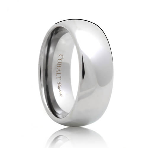 e6f5e1cac5fce Domed Durable Cobalt Chrome Wedding Band (4mm - 10mm)