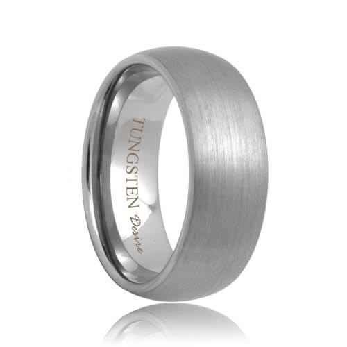 8mm brushed domed durable tungsten wedding ring - Tungsten Wedding Ring