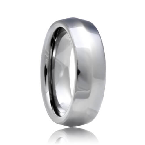 Bladed Knife Edge Shine Tungsten Carbide Wedding Band (6mm - 8mm)