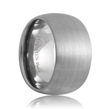 12mm Domed Matte Finish White Tungsten Band