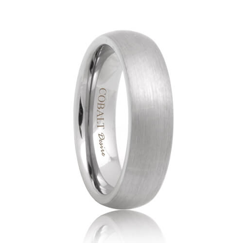 Matte Dome Unique Cobalt Chrome Wedding Band