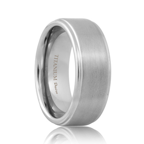 Matte Raised Center Titanium Band (6mm - 8mm)