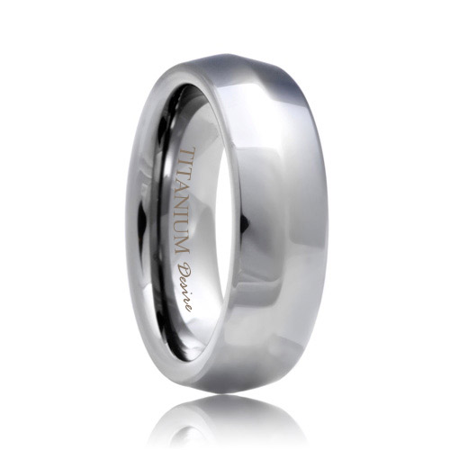 Knife Edge Polished Titanium Jewelry Band (6mm - 8mm)