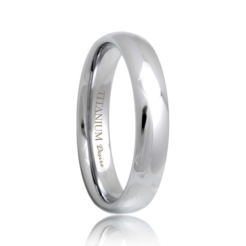 Juno Round Light 4mm Titanium Wedding Band