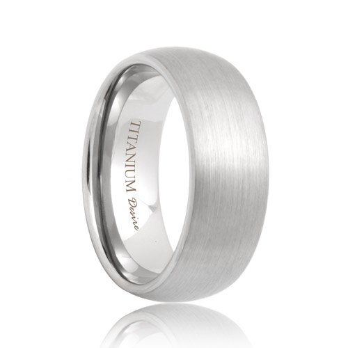 Rounded Matte Light Weight Titanium Band (6mm   8mm)