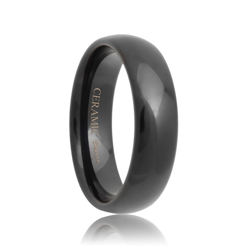 Round Scratch Resistant Ceramic Wedding Ring
