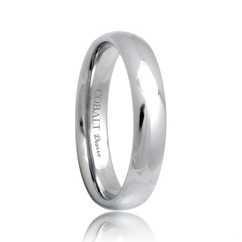Round Tough 4mm Cobalt Chrome Wedding Band