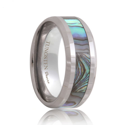 Tungsten Band Mother of Pearl Inlaid(6mm - 8mm)