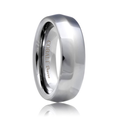 Knife Edge Cobalt Chrome Wedding Band (6mm - 8mm)