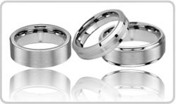 Brushed Tungsten Rings