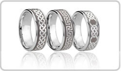 Celtic Tungsten Rings