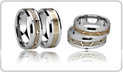 Mokume Tungsten Rings