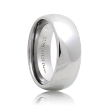 Domed Durable Tungsten Carbide Wedding Band (4mm - 8mm)