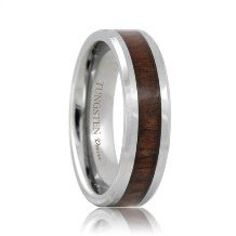 Tungsten Black Walnut Wood Grain Ring