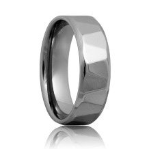 Triangular Faceted Tungsten Band (6mm - 8mm)