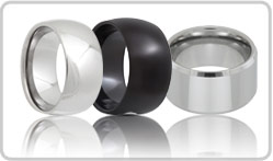 Wide Tungsten Rings