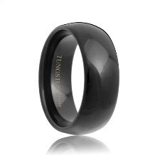 Domed Black Tungsten Carbide Ring (4mm - 8mm)